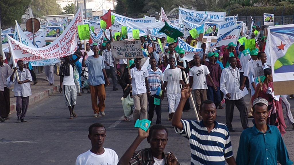Djiboutians protesting in 2007