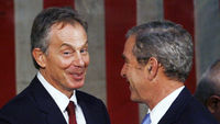 Tony Blair with George Bush (Reuters)