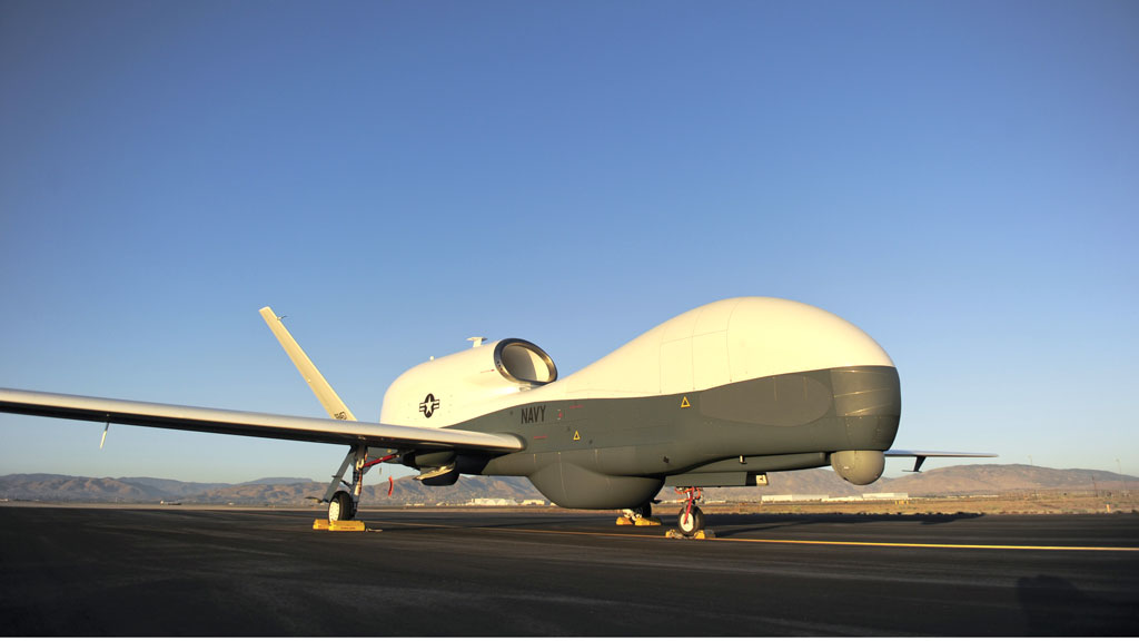 A US drone flies through UK airspace for the first time (credit: Getty Images)