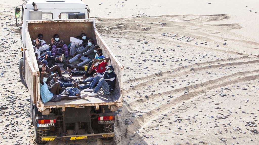 Migrants from Sierra Leone at Maspalomas