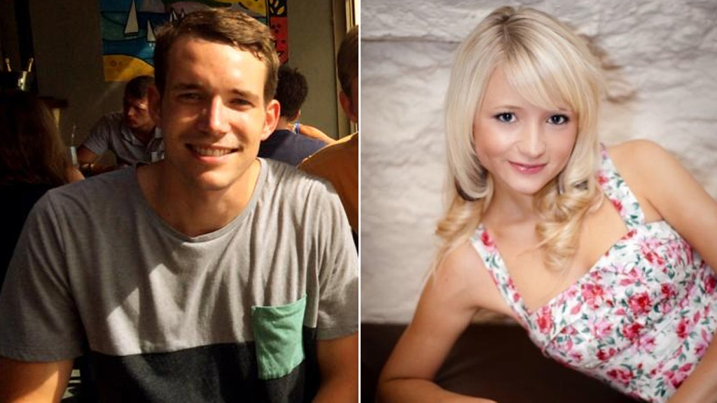 British backpackers Hannah Witheridge and David Miller (police handout)