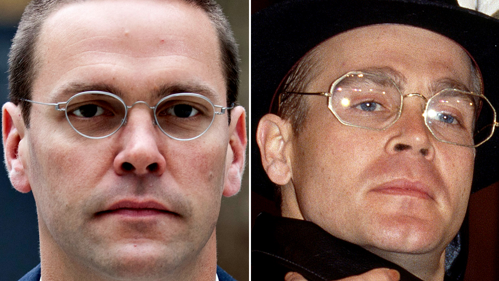 James Murdoch and Herr Flick from 'Allo, 'Allo