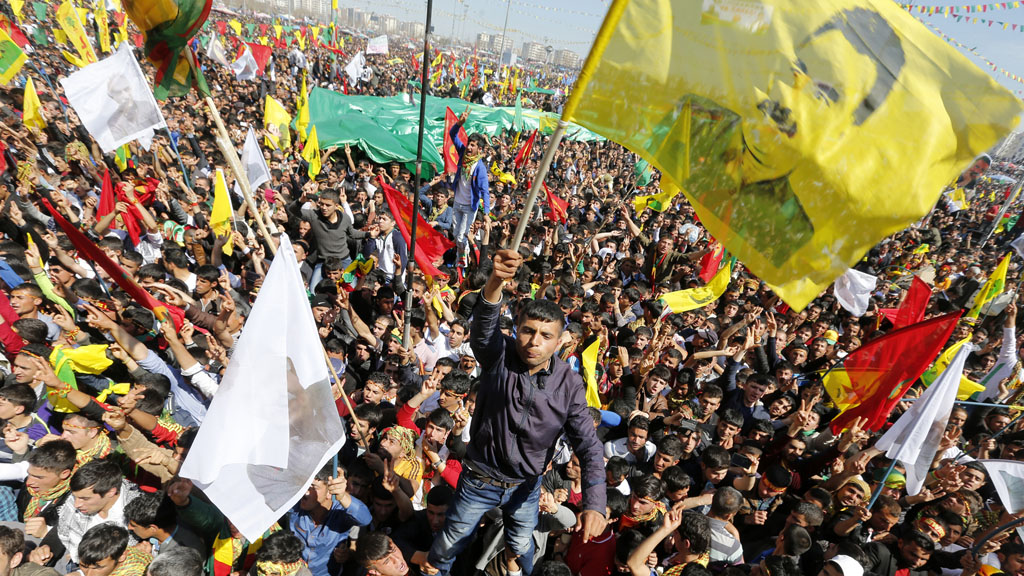 Ocalan flags