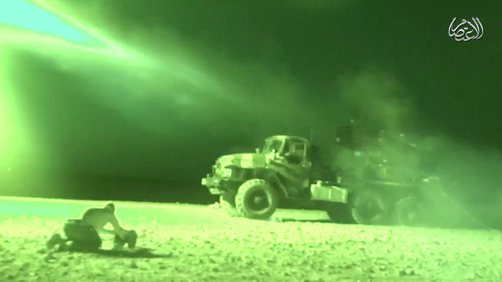 Night vision image of attack on 93rd brigade