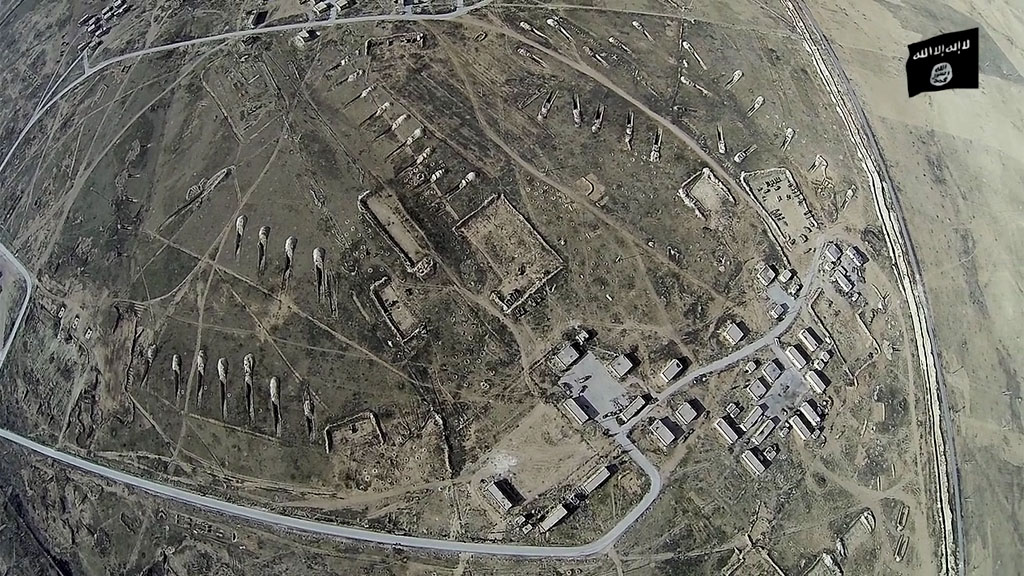 Aerial view of 93rd brigade base in Syria