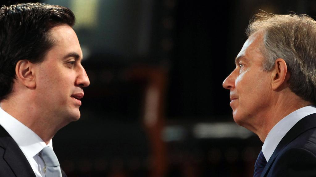 Ed Miliband and Tony Blair