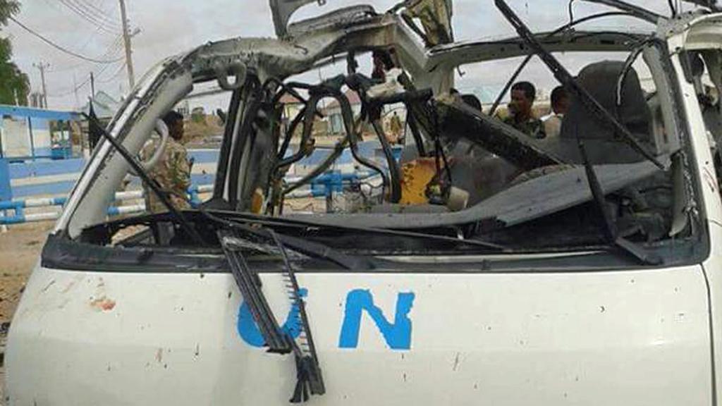 UN van targeted by Al-Shabaab in Garowe, Somalia