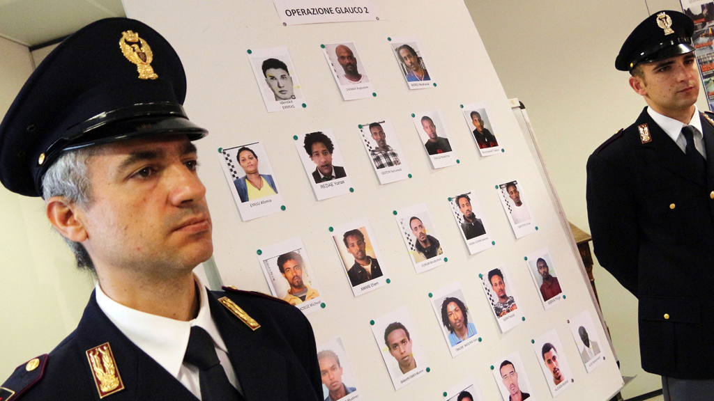 Italian police operation against traffickers