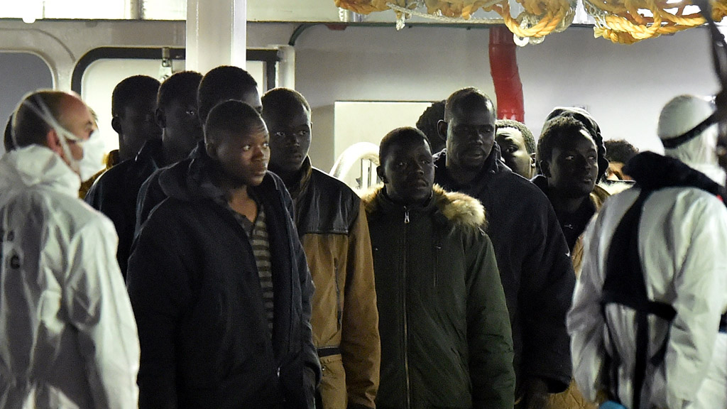 Survivors from Sunday's Mediterranean disaster