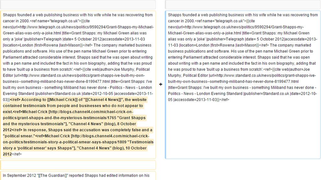 Grant Shapps Wikipedia edits