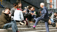 Jon Snow meets Leeds University students
