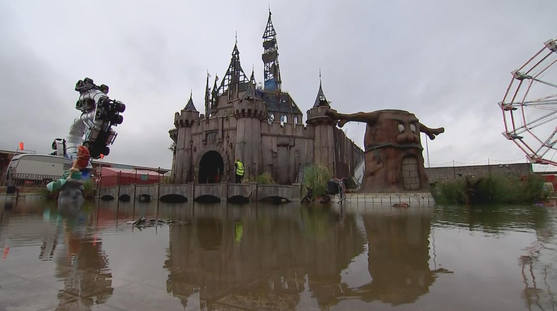 Dismaland castle