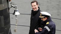 George Osborne at Faslane (Reuters)