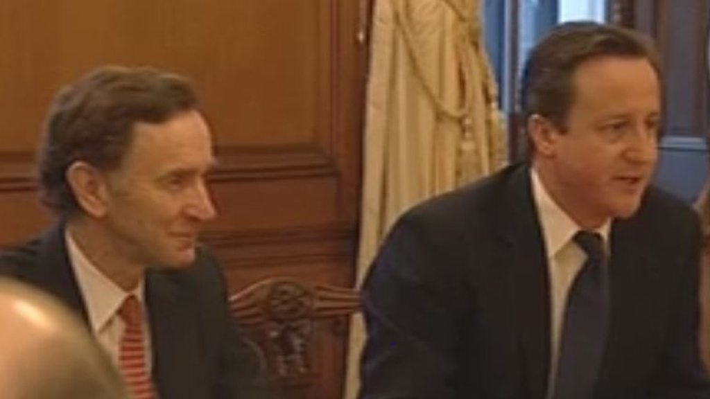 Stephen Green, former chairman of HSBC with David Cameron