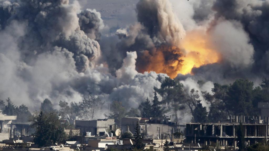 Explosion in Kobani (Reuters)