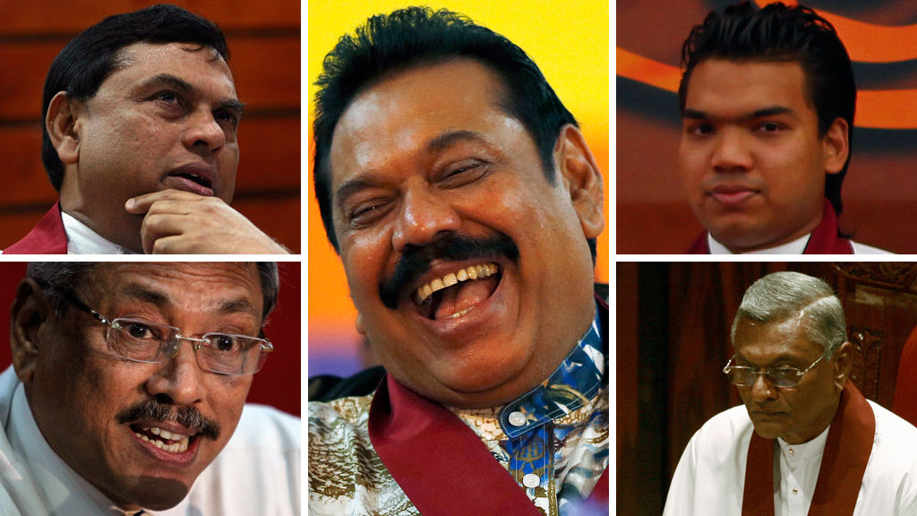 Sri Lanka's ruling family - the Rajapaksas