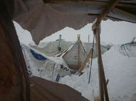 Collapsed tent (photo by Fawzi)