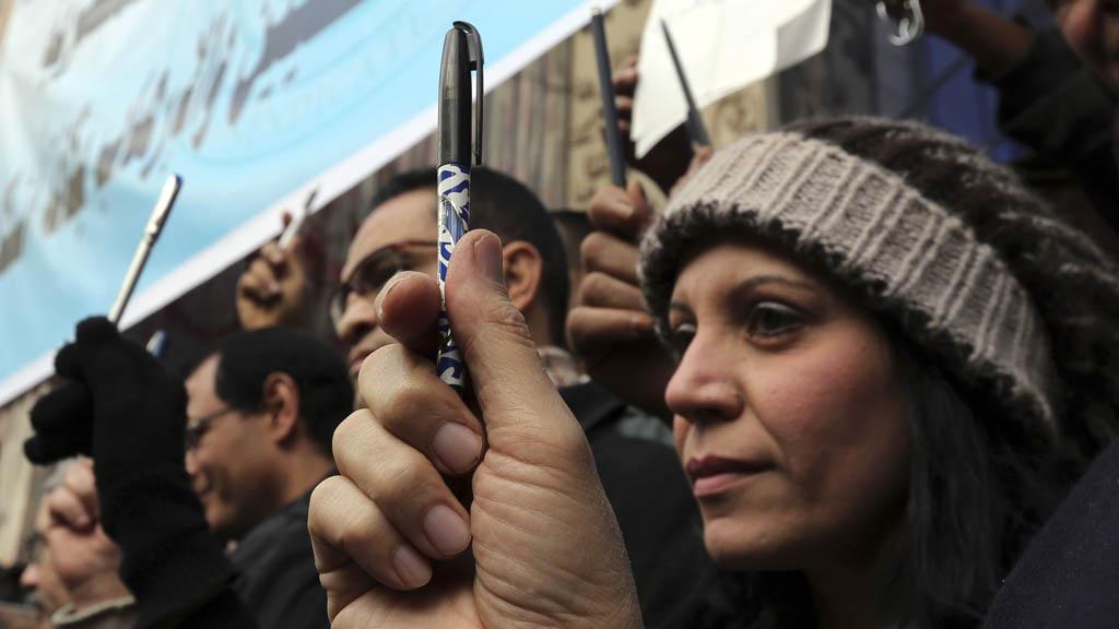 Egypt Paris protest