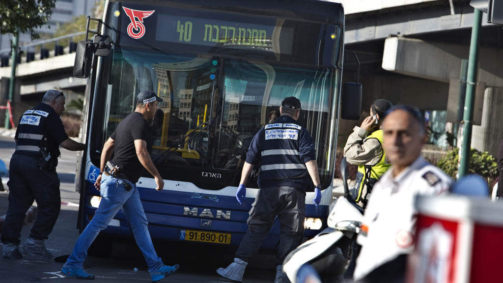 Bus attack in Tel Aviv, Israel