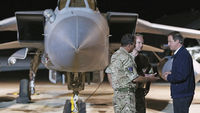 David Cameron with RAF in Cyprus