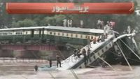 The train was carrying military personnel and their families when a bridge collapsed.