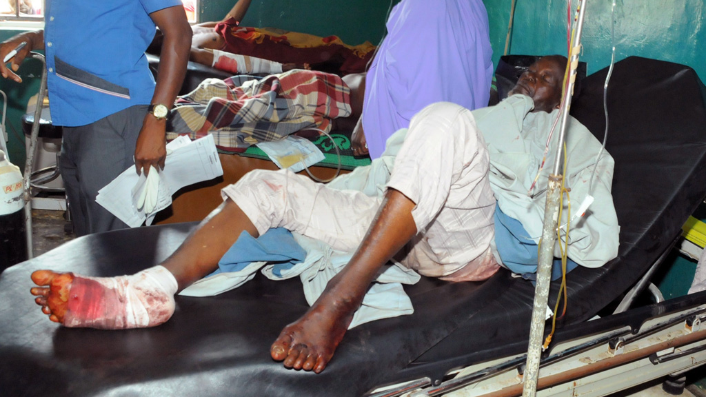 Injured man following Boko Haram attack