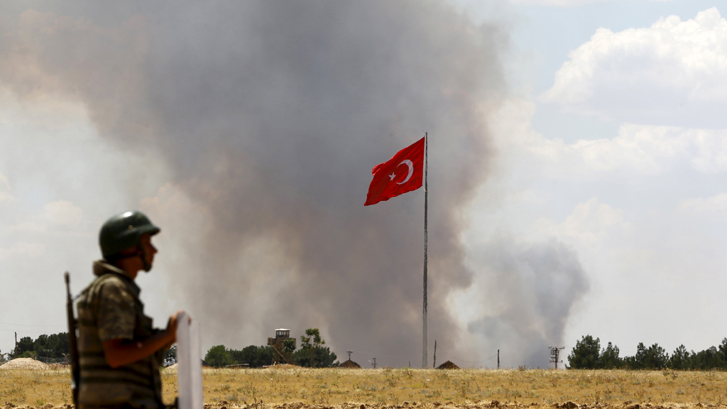 Turkish airstrike (Reuters)
