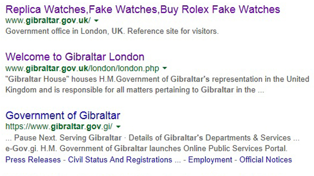 Gibraltar search results
