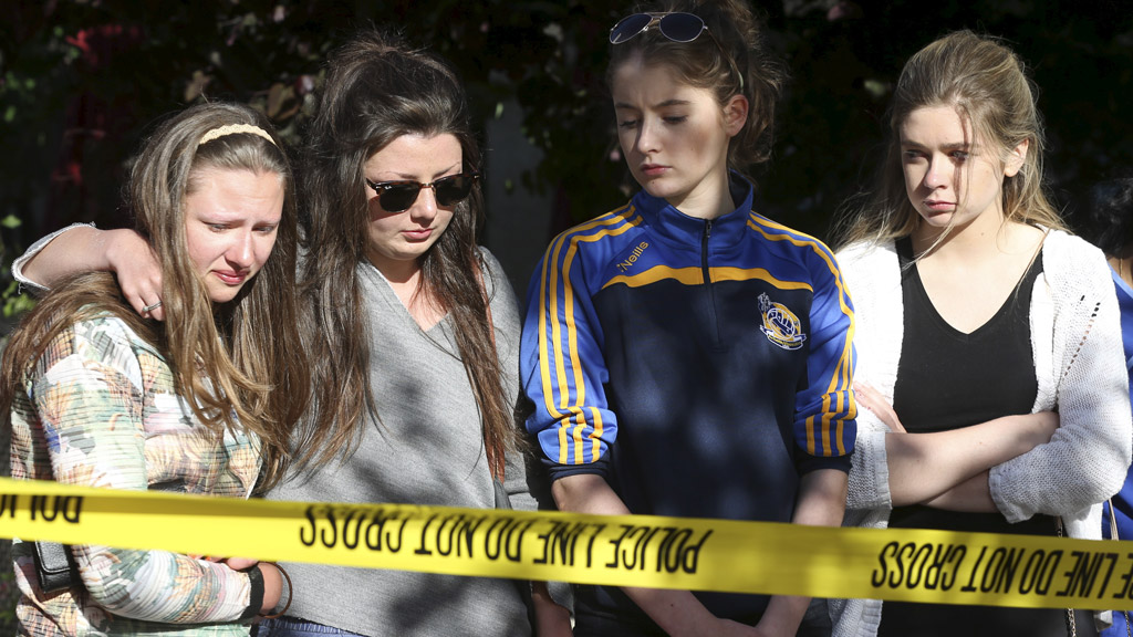 An Irish government minister has travelled to the US to offer support to the families of the students who died