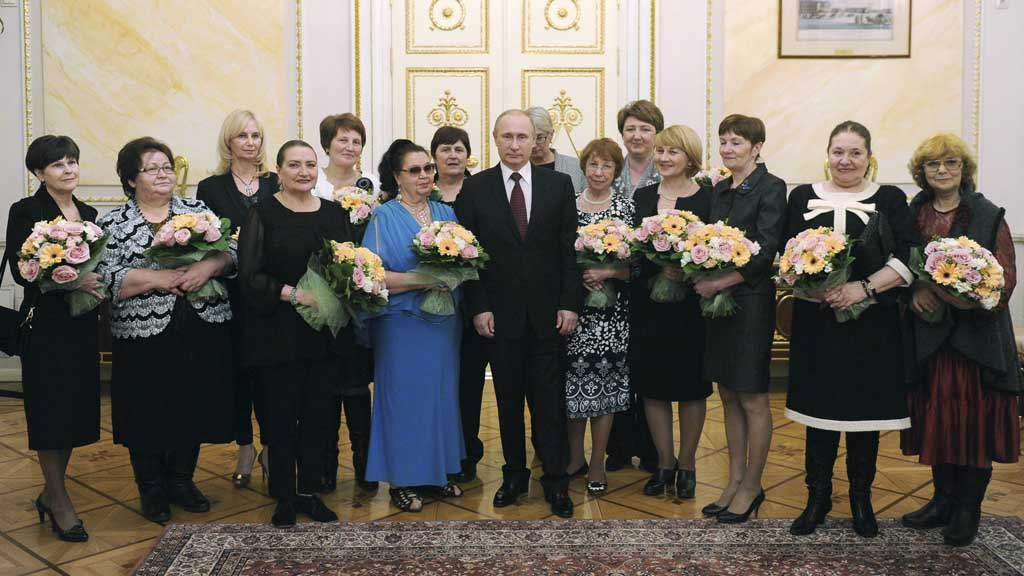 Vladimir Putin on Women's Day (Reuters)