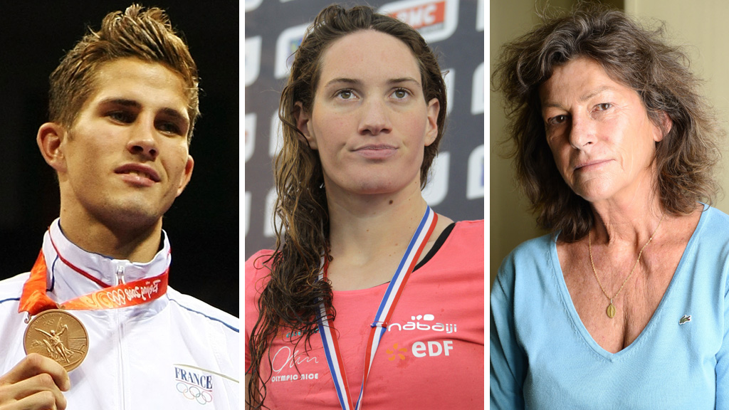 Alexis Vastine, Camille Muffat and Florence Arthaud