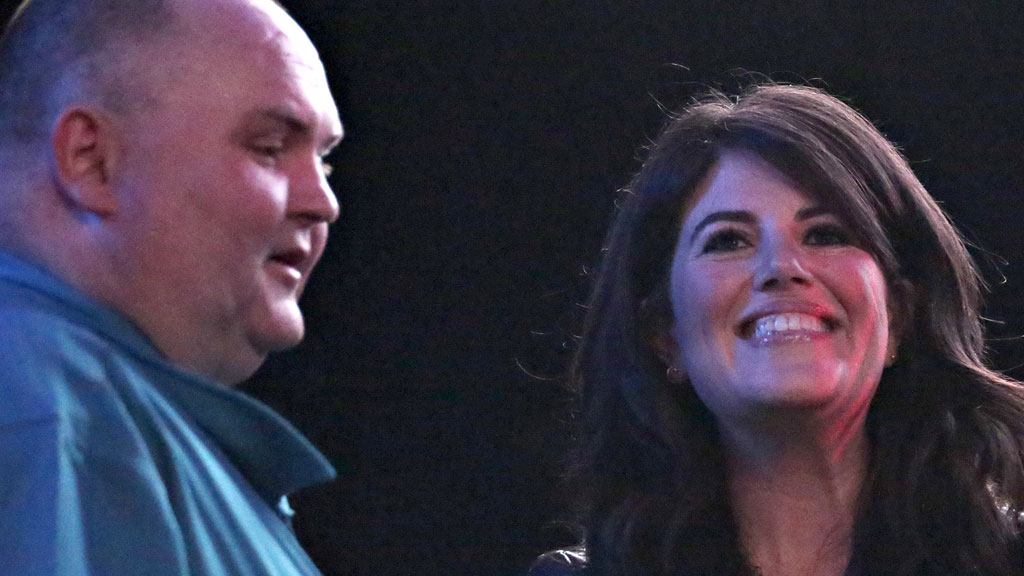 Dancing Man Sean O'Brien with Monica Lewinsky