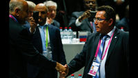 Fifa congress: Palestine and Israel shake hands