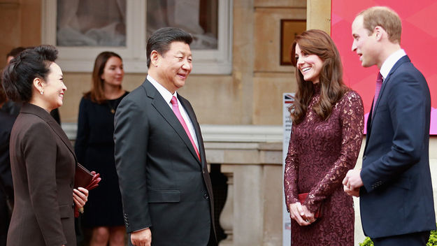 Chinese President Xi Jinping and his wife meeting the Duke and Duchess of Cambridge  (Getty)