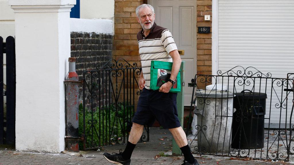 Jeremy Corbyn in London