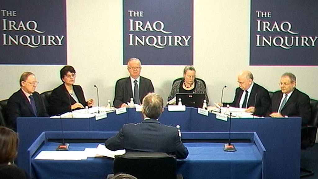Sir John Chilcot, the chairman of the inquiry into the Iraq war, provokes controversy after saying his report will not be published until after the May election - six years after he began his work (R)