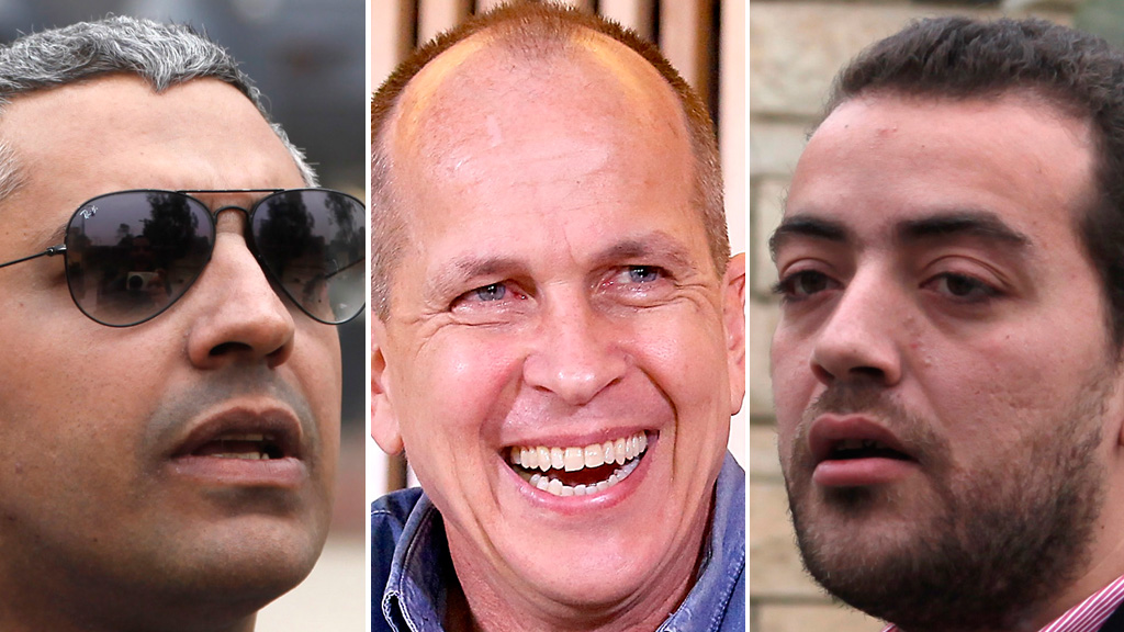 Mohamed Fahmy, Peter Greste and Baher Mohammad (Reuters)