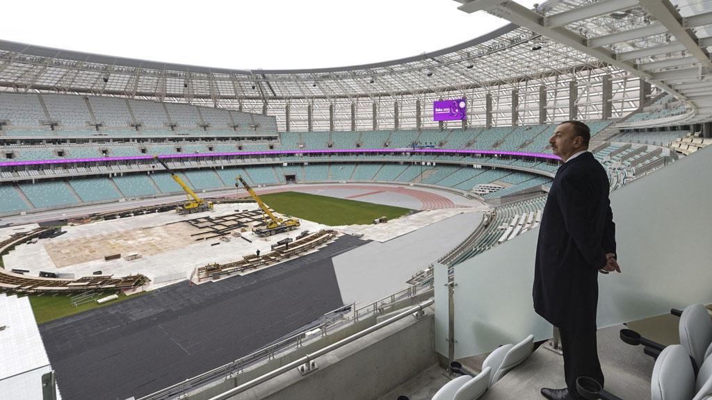 President Aliyev in Baku's new Olympic Stadium (Getty Images)
