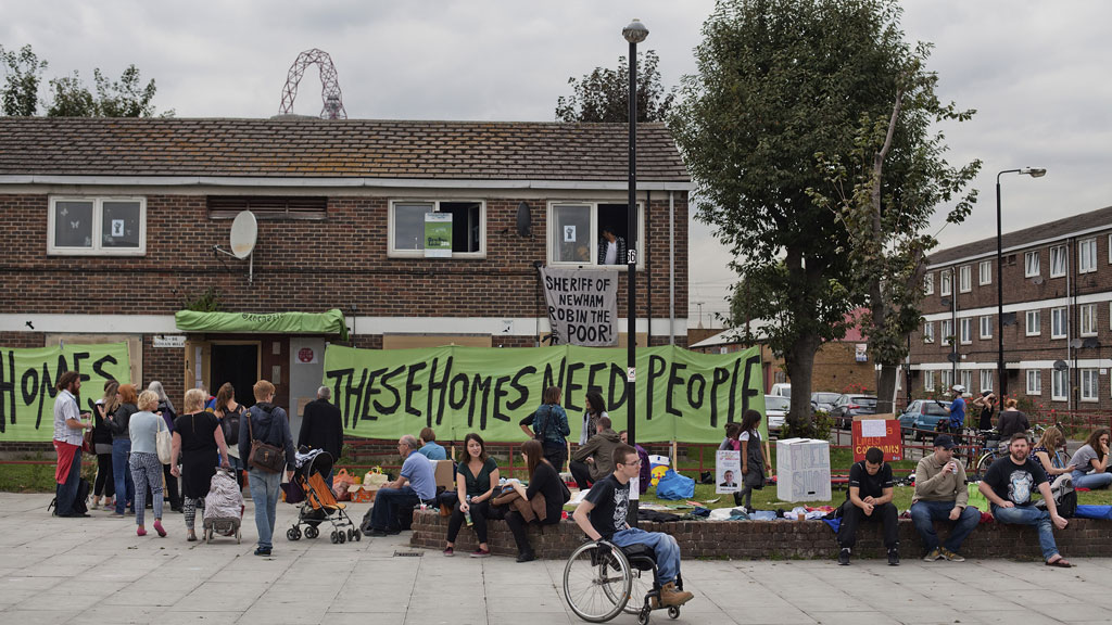 The activist group E15 Mother occupies an empty council house (Getty)