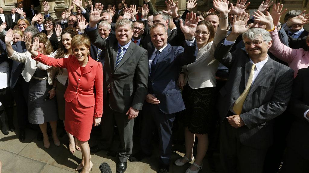 Nicola Sturgeon and SNP MPs (Reuters)