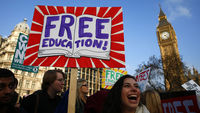 Ed Miliband sets out how a Labour government would honour its pledge to cut university tuition fees to �6,000 a year, saying an