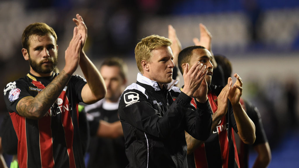 Bournemouth players and manager Eddie Howe celebrate victory (Getty)