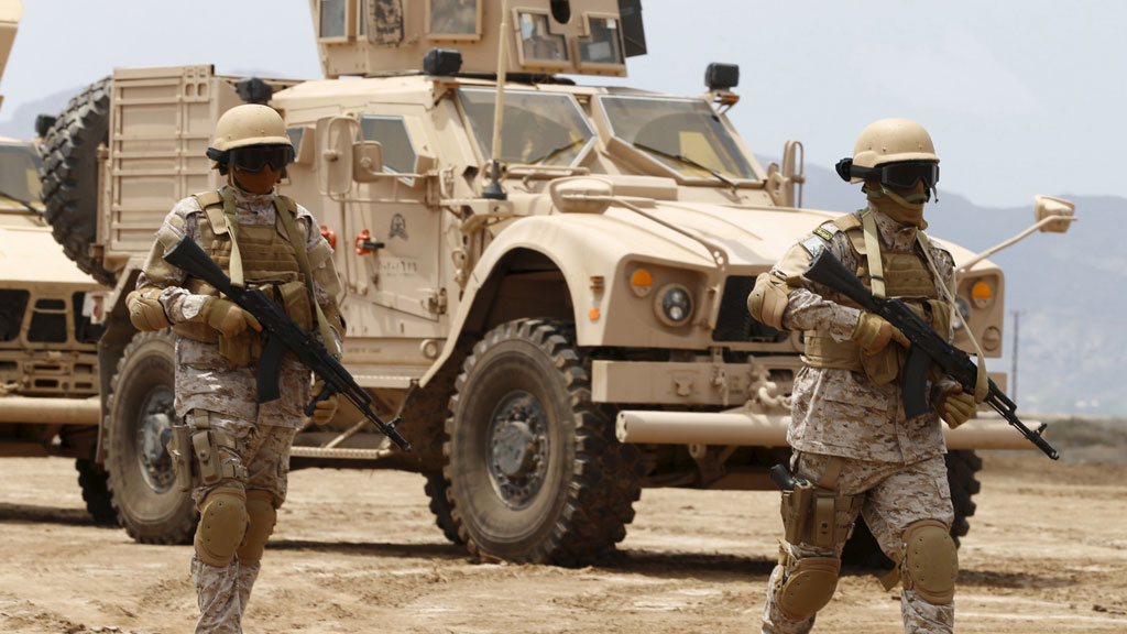 Saudi troops in Aden, Yemen (Reuters)
