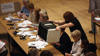 Counting the votes at this year's Odham and Saddleworth by-election (Getty).