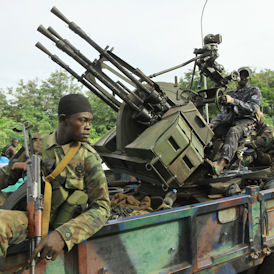 Troops battled for Abidjan but Ivory Coast war could be over (Getty)