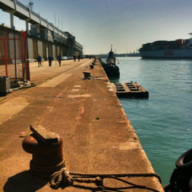Submrine shooting: Twitter picture of Southampton dock.
