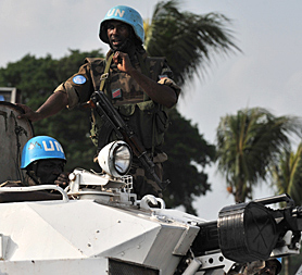 The Ivory Coast's president Laurent Gbagbo regains ground in Abidjan (Image: Getty)