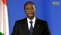 Alassane Ouattara addresses the nation after the capture of Laurent Bagbo (Reuters)