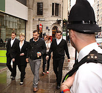 G20 death: Ian Tomlinson's family arrive at the inquest (Image: Getty)
