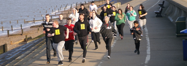 London Marathon: Will Young trains with Catch22 youngsters. (Courtesy: Catch22)